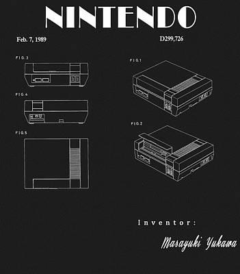 Drawing - Original Nintendo Patent by Dan Sproul