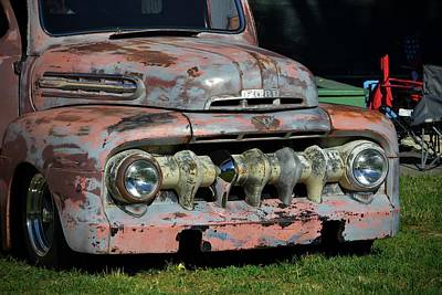 Photograph - Original Patina Ford Pickup by Dean Ferreira