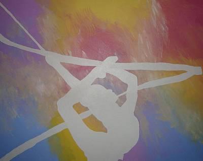 Original Rhythmic Gymnast 5 Print by H George Vandeveer