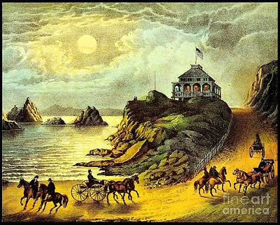 Original San Francisco Cliff House Circa 1865 Art Print