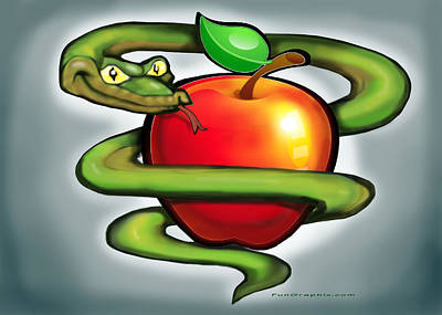 Serpent Digital Art - Original Sin by Kevin Middleton