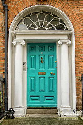 Photograph - Original Turquoise Georgian Door by Patricia Hofmeester