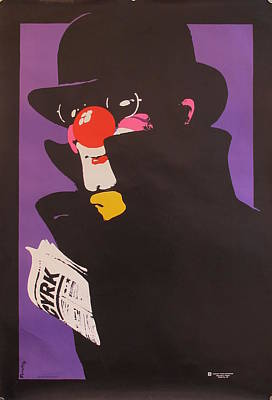 Original Vintage Polish Circus Poster Cyrk Clown Original by Waldemar Swierzy