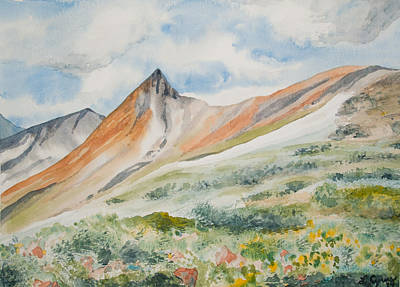 Painting - Original Watercolor - Elkhead Pass Colorado by Cascade Colors