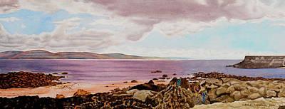 Original Watercolor Painting - Dublin Seascape - 18.5 X 35.75 Original by Daniel Fishback