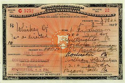 Photograph - Original Whiskey Prescription by Vintage Pix
