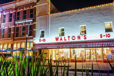 Abstract Airplane Art - Origins of Greatness - Bentonville Arkansas Walton Five and Dime by Gregory Ballos