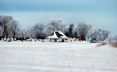 Digital Art - Orillia Winter by JGracey Stinson
