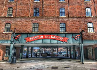 Photograph - Oriole Park At Camden Yards - Sign by Marianna Mills