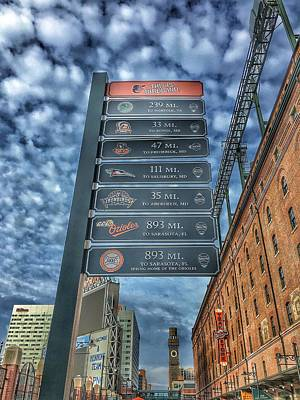 Photograph - Oriole Park At Camden Yards - Signs by Marianna Mills