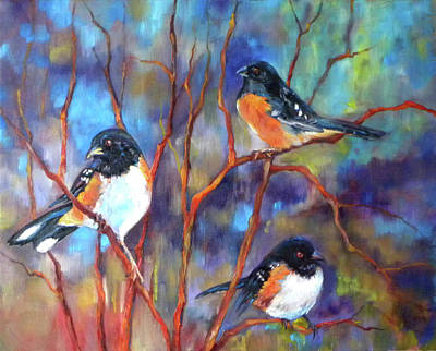 Oriole Painting - Orioles In Dogwood by Peggy Wilson
