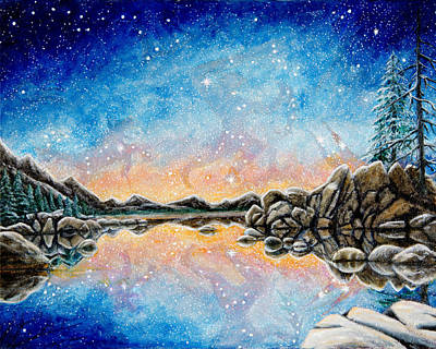 Painting - Orion Over Tahoe Winter by Matt Konar