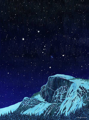 Orion Over Yosemite Art Print