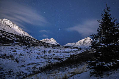 Photograph - Orion Surveys The Chugach by Tim Newton