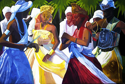 Orishas Painting - Orixas Dance by Marcus Wang