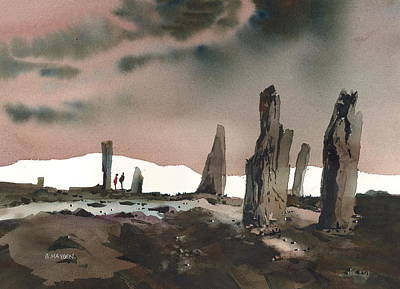 Neolithic Painting - Orkney-ring Of Brodgar And Hoy by Brigitte Hayden
