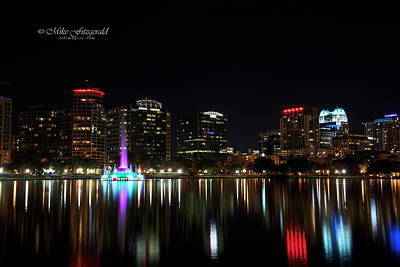 Photograph - Orlando Beautiful Lake Eola by Mike Fitzgerald