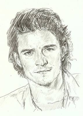 Orlando Bloom Drawing - Orlando Bloom by Carla  Stroud