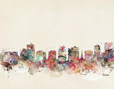 Colourfull Painting - Orlando City Florida by Bri B