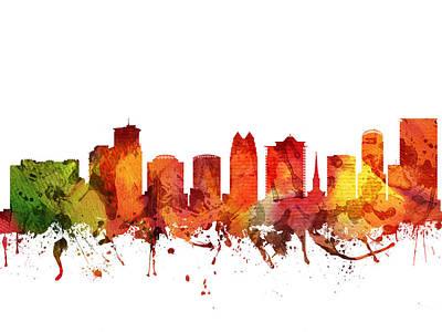 Florida Digital Art - Orlando Cityscape 04 by Aged Pixel