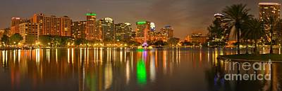 Photograph - Orlando Cityscape Reflections by Adam Jewell
