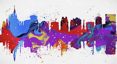 Painting - Orlando Colorful Skyline by Dan Sproul