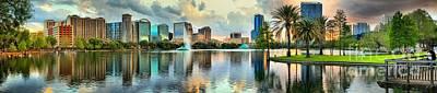 Photograph - Orlando Fl Skyline Panorama by Adam Jewell