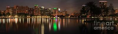 Photograph - Orlando Florida Cityscape Reflections by Adam Jewell