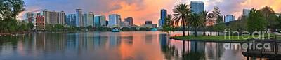 Photograph - Orlando Florida Pastel Panorama by Adam Jewell