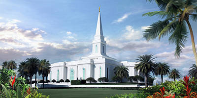 Lds Painting - Orlando Florida Temple by Brent Borup