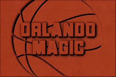 Orlando Magic Leather Art Art Print by Joe Hamilton