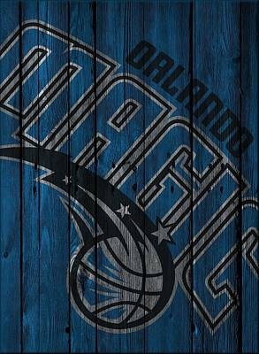 Orlando Magic Photograph - Orlando Magic Wood Fence by Joe Hamilton