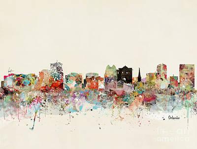 Painting - Orlando Skyline by Bleu Bri