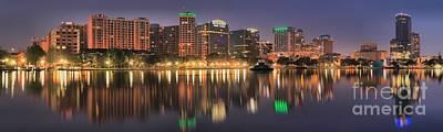 Photograph - Orlando Sunrise Panorama by Adam Jewell