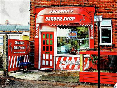 Photograph - Orlandos Barber Shop Hove England by Dorothy Berry-Lound
