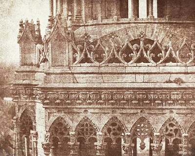 Photograph - Orleans Cathedral by William Henry Fox Talbot