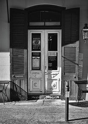 Photograph - Orleans Grapevine Wine Bar And Bistro - New Orleans - B/w by Greg Jackson