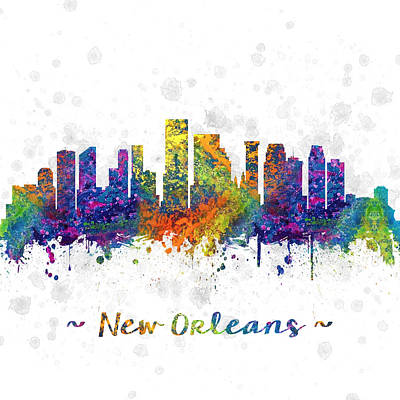 Town Drawing - Orleans Louisiana Color 03sq by Aged Pixel
