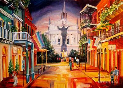 French Quarter Painting - Orleans Street-new Orleans by Diane Millsap