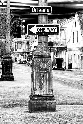 Nola Photograph - Orleans Street One Way by John Rizzuto
