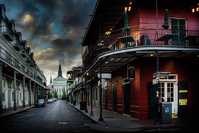 Morning Photograph - Orleans Street To St Louis Cathedral by Greg Mimbs