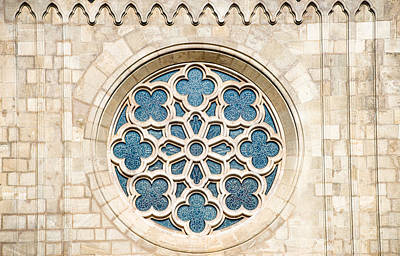 Photograph - Ornament Window Matthias Church Budapest by Matthias Hauser