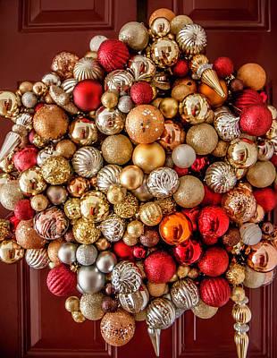 Photograph - Ornament Wreath by KG Thienemann