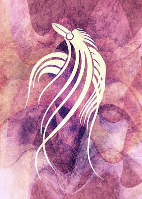 Zen Mixed Media - Ornamental Abstract Bird Minimalism by Georgiana Romanovna