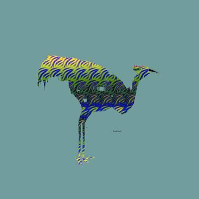 Digital Art - Ornamental Bird by Asok Mukhopadhyay