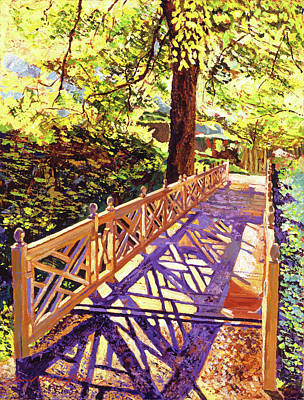 Painting - Ornamental Bridge by David Lloyd Glover