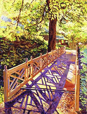 Footbridge Painting - Ornamental Bridge by David Lloyd Glover