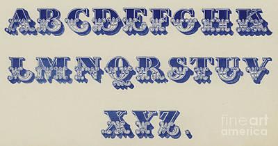 Ornamental Fleur De Lis Font Art Print