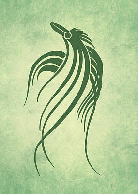 Digital Art - Ornamental Parrot Minimalism by Georgiana Romanovna