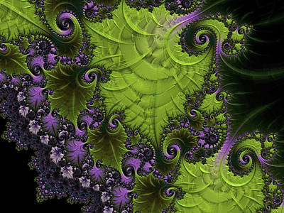 Digital Art - Ornamental Purple Vine Abstract by Georgiana Romanovna